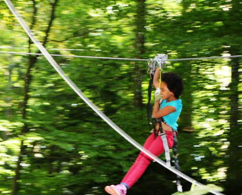 Zip lines - Fun and thrills!